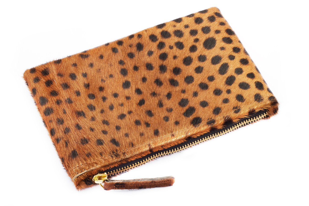 Bags and Purses; Wallet Clutch; CV. Wallet Clutch; Leopard Print Calf Hair Clutch; Leather; Bridesmaid Gift; Bride to be; Wedding Gift ideas; Gift for Bride
