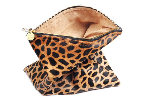 Women's Handbag; Calf hair clutch bag; leopard print calf  hair handbags; calf hair crossbody; pony hair handbag; calf hair handbags; foldover calf hair bag; foldover leather pony hair clutch; pony hair handbags