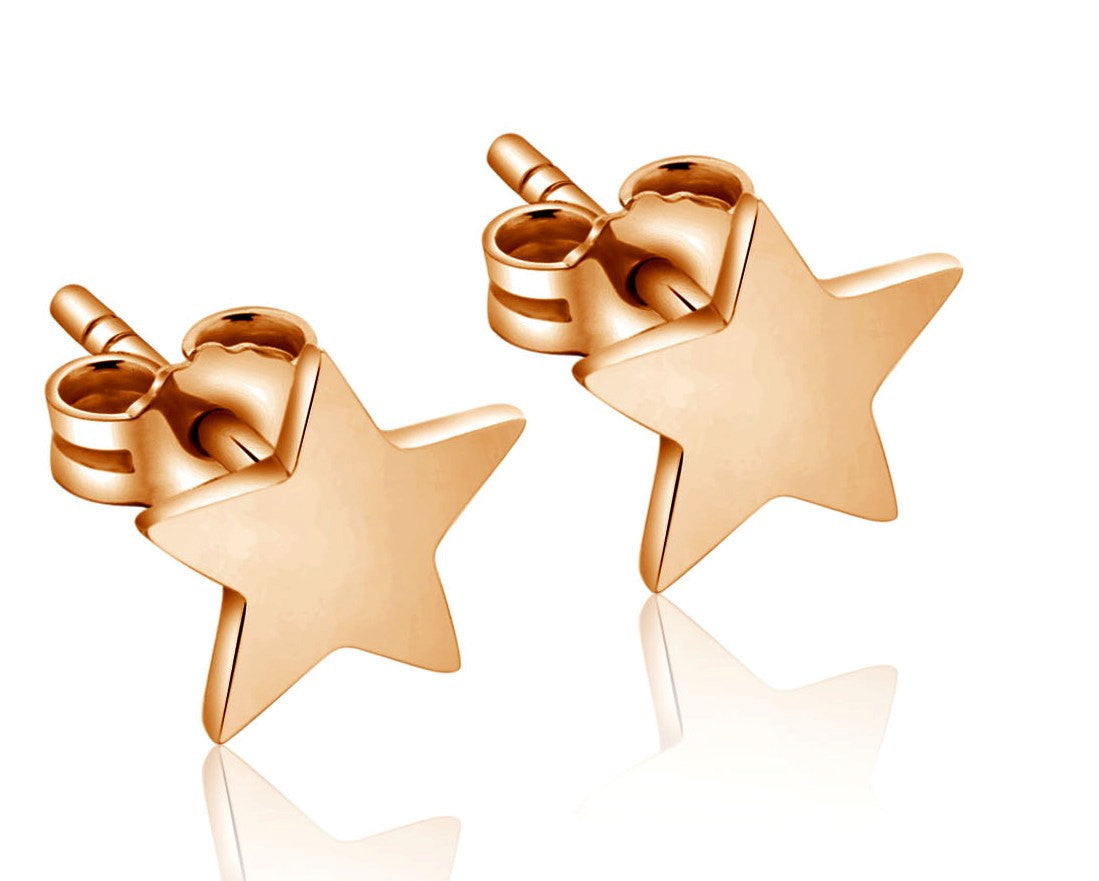 Star Stud Earring Rose Gold