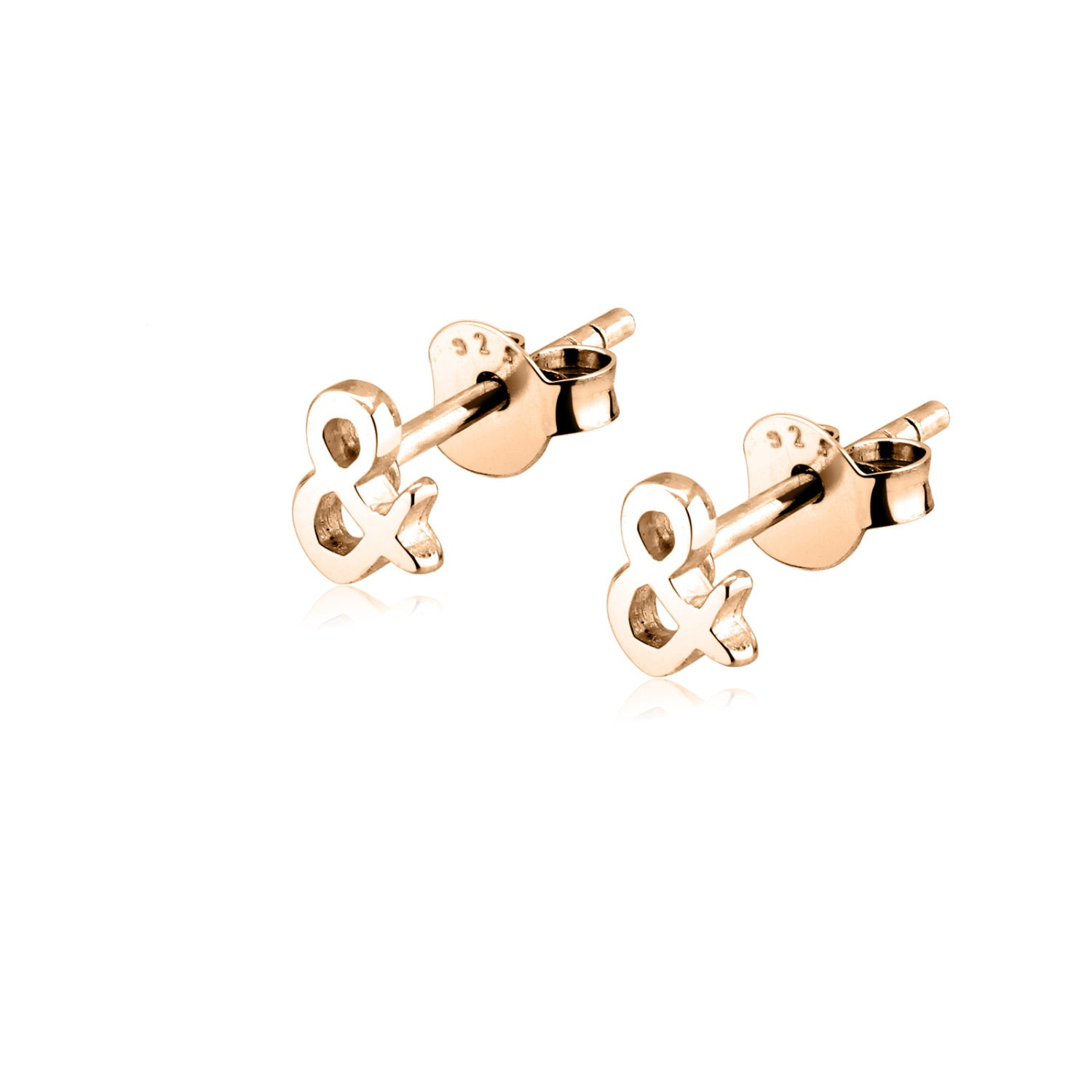 Dainty Tiny Ampersand Symbol Earrings Girl Women