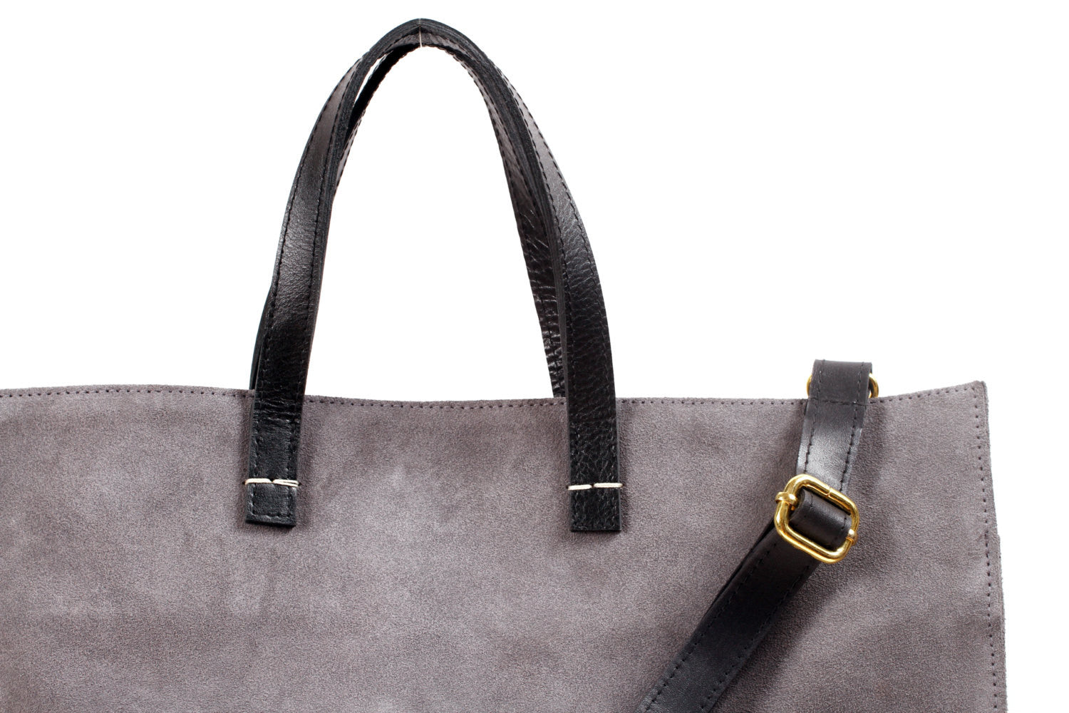 Tote-Suede Leather Handbag