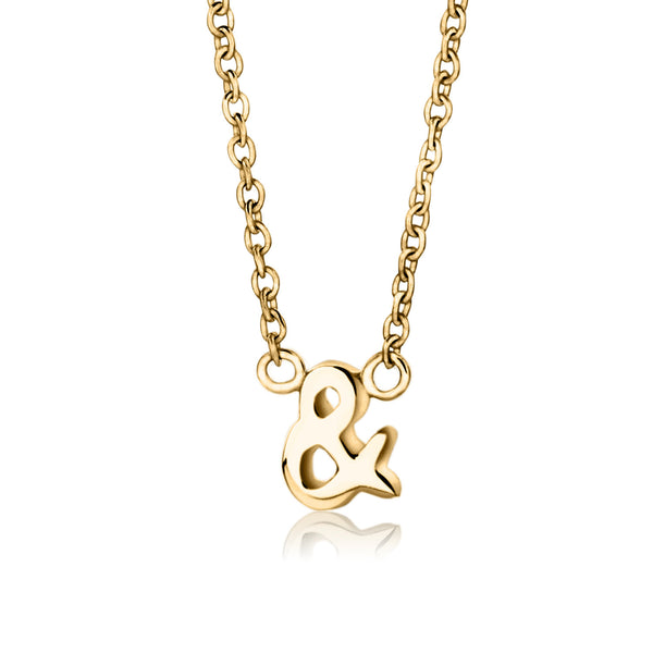 Ampersand Necklace; Symbol Ampersand Necklace, Ampersand Necklace, Tiny Ampersand Charm Necklace