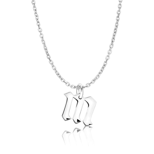 Gothic Initial Alphabet Necklace