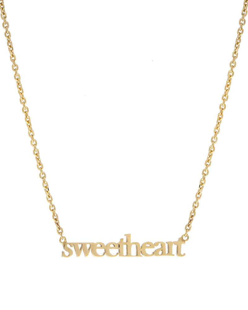 14k Custom Word Necklace Women