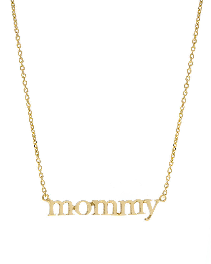 Jennifer Meyer mommy necklace