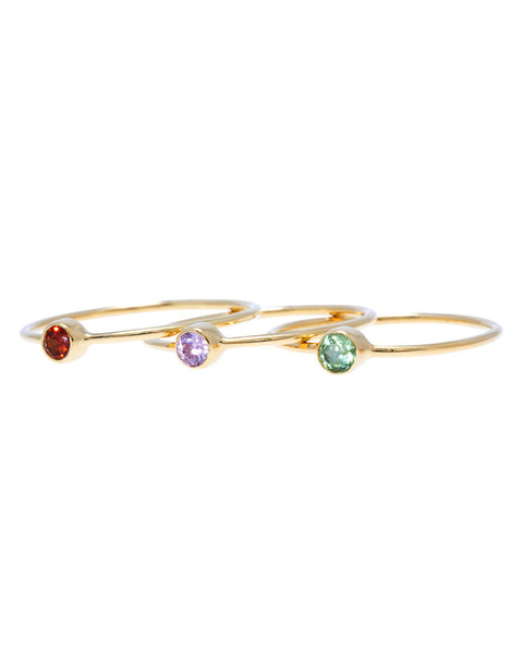 Thin birthstone band; Birthstone ring; Rings; jewelry; midi birthstone ring; 14k gold mini ring; 14k birthstone ring;  1mm band ring; layered ring; tiny cz ring; stackable ring; cz solitaire ring; dainty rings; cz simple ring