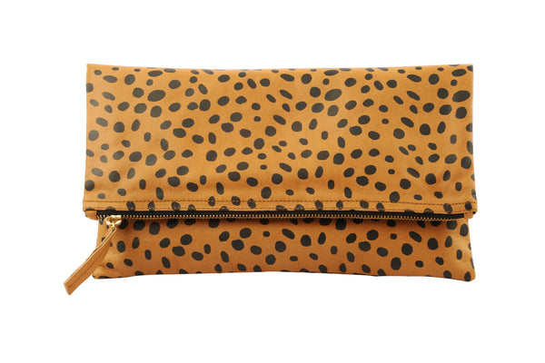 Bags and Purses; Spotted Clutch; Leather Handbag; Leather Clutch; Printed Spotted Cheetah Clutch; Sophia Webster