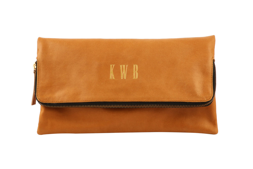 Bags and Purses; Monogrammed Clutch; Foldover Clutch; CV. Foldover Clutch;Leather goods; Bridesmaid Gift; Bride to be; Wedding Gift ideas; Gift for Bride
