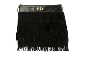 Monogram Fringe Bag; Fringe Leather Bag; bohemian leather bag; Bohemian Bag