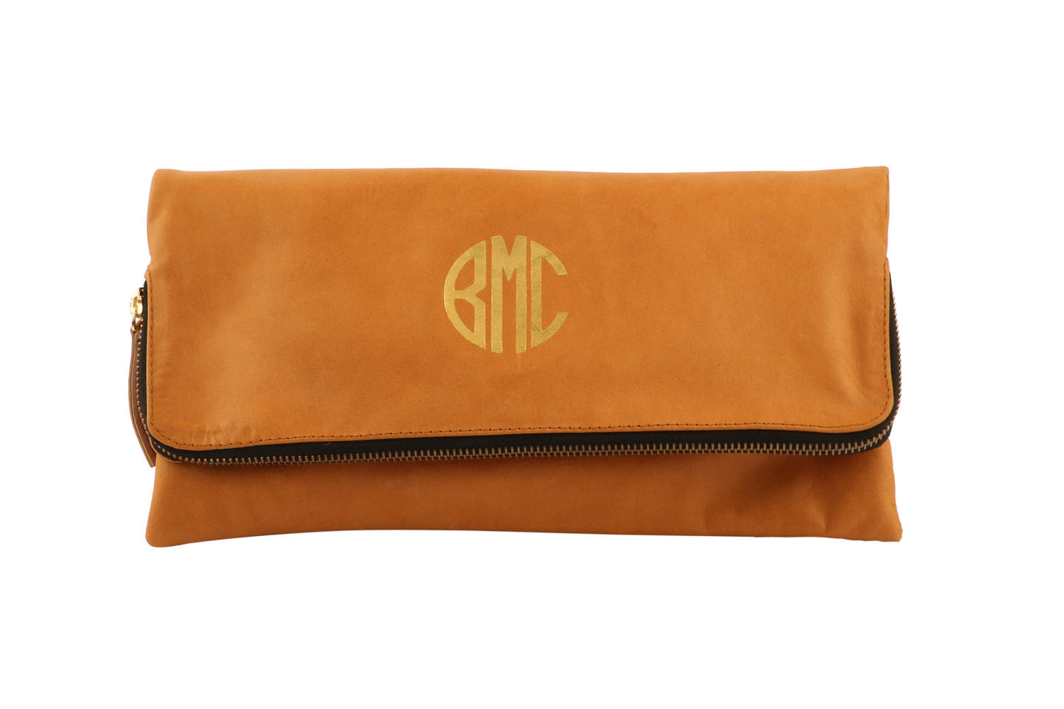 Foldover Clutch-Monogrammed + Personalized Leather
