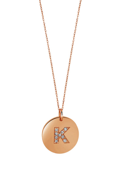 Monogrammed Gift Idea + Jewelry + Necklace + Pendant + Charm Necklace + Jennifer Meyer Necklace + MimicDesigns + Etsy
