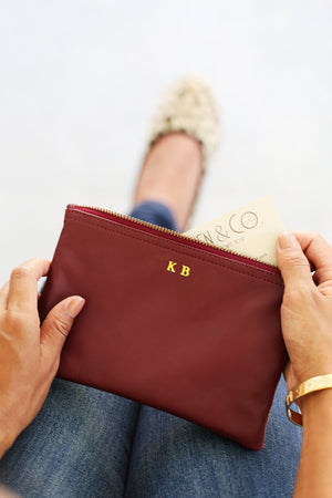 CV. Wallet Clutch; Bags and Purses; Leather Wristlet Clutch; Bridesmaid Gift; Wedding Gift Ideas; Bride to Be