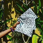 Spotted clutch; Dalmatian clutch, Dalmatian Bag, Leather Dalmatian print clutch, Dalmatian clutch, Black and White Fold over