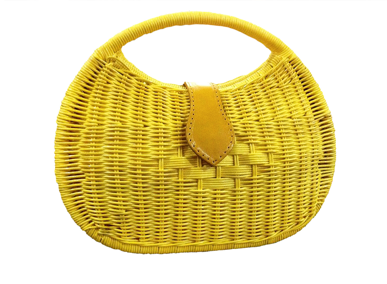 Exclusive Luxe Wicker Rattan Basket Bag