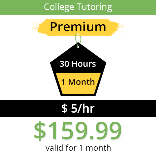 College Tutoring Package (Math, Science, English) - 30 Hours