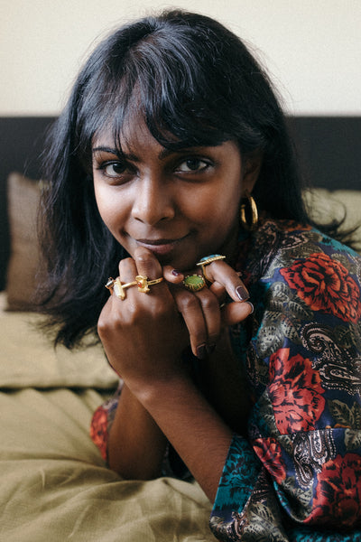 In Bed with Dhiva Shini Perth blogger content creator for Mountain & Moon Muse The Journal