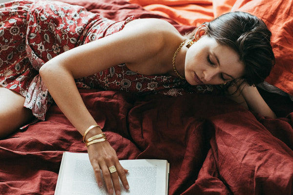 In Bed With Scarlett Stevens of San Cisco Muse for Mountain & Moon Milou Milou blog journal  series