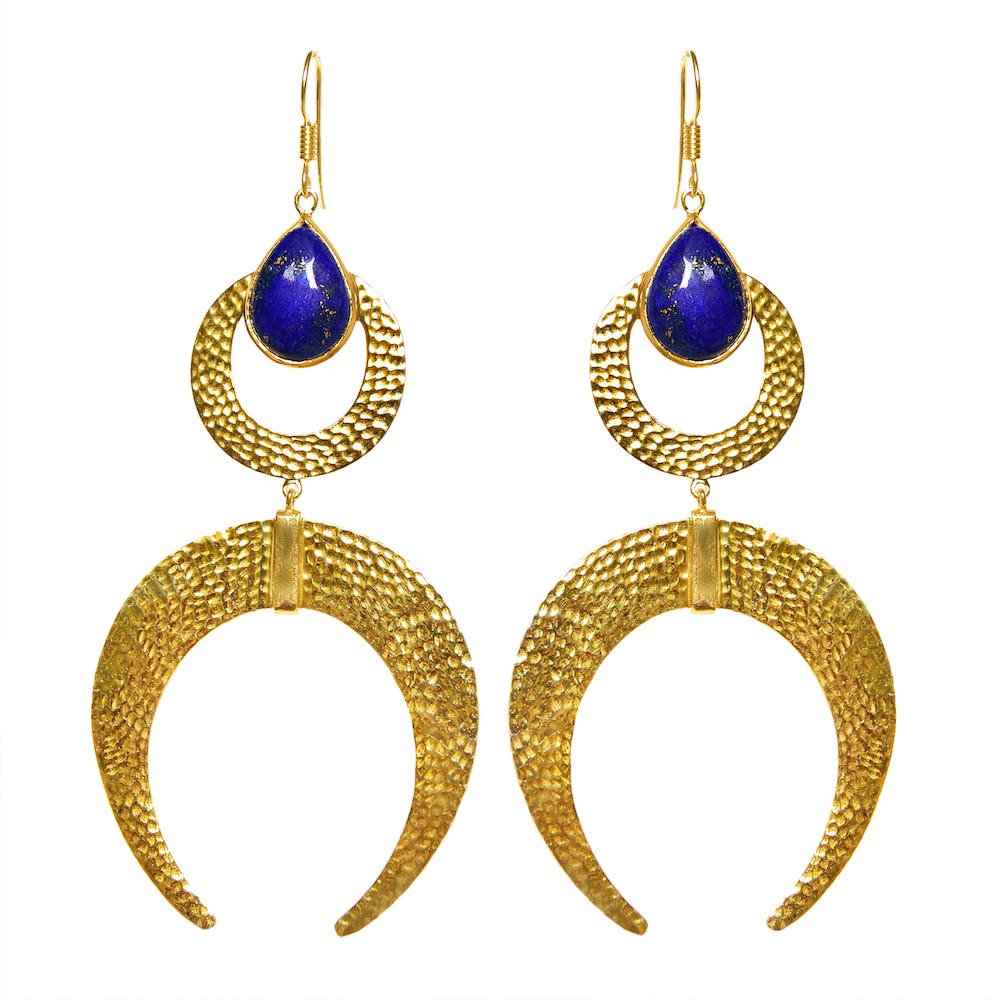 AYLA Earrings | LAPIS LAZULI