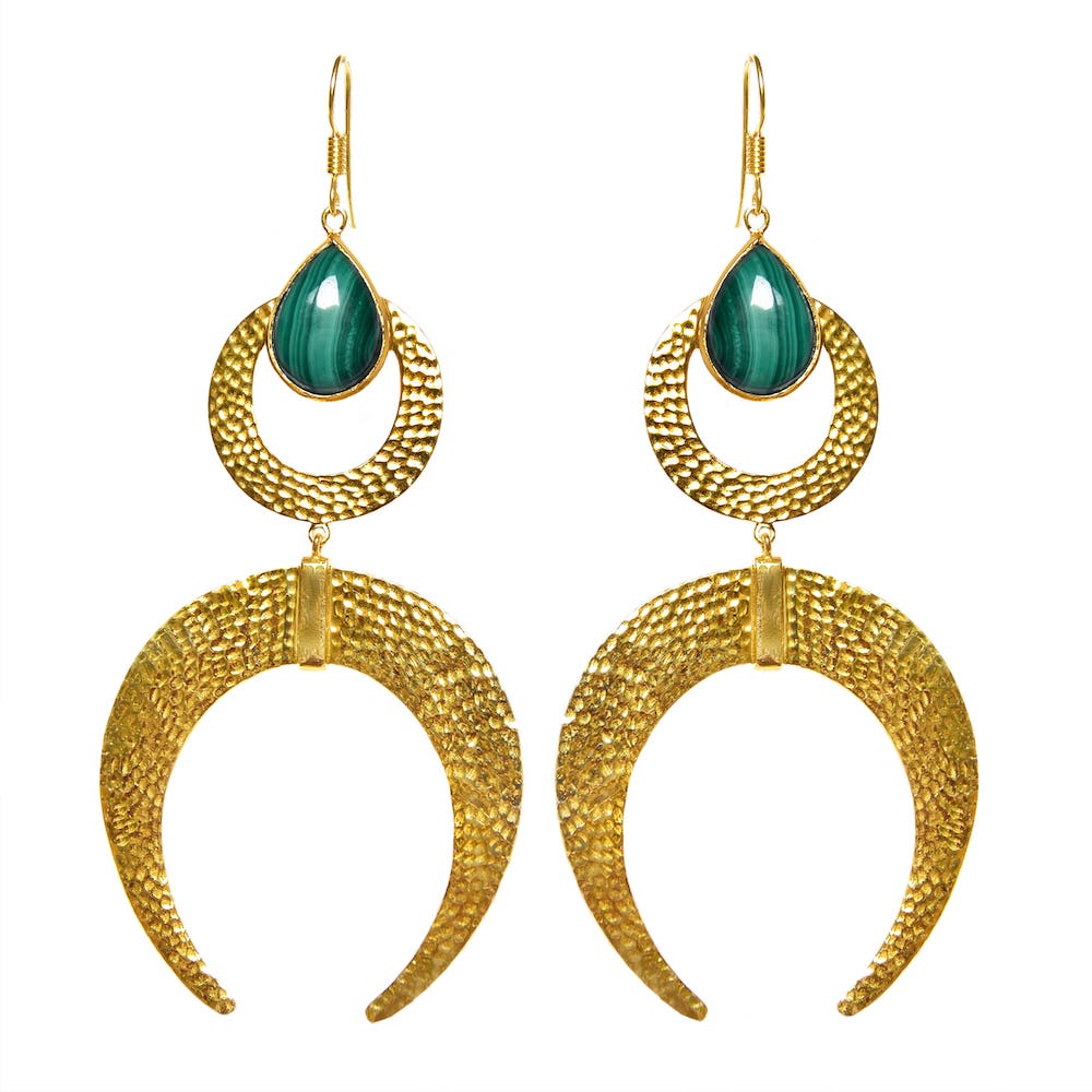 AYLA Earrings | MALACHITE