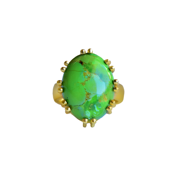 BIANCA Ring | Green Mojave Turquoise