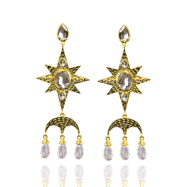 CHRISTINE Earrings | Crystal Quartz