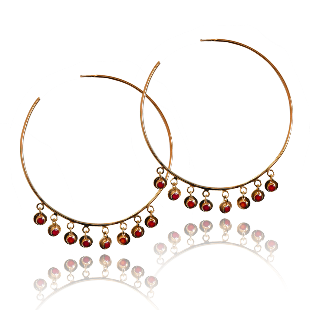 EZRA Earrings | Orange Onyx