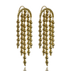 Gold CHANDELIER ISABELLA Bead Earrings Drop HOOK Australian Designer Mountain Moon Brass Luxe Opulent Made by artisans. Ethical jewelry.