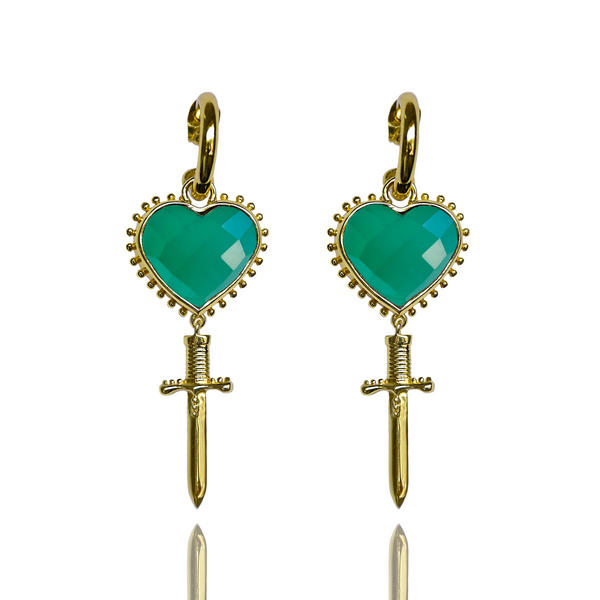JULIET Earrings | Green Onyx