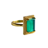 MONICA Ring | Green Onyx