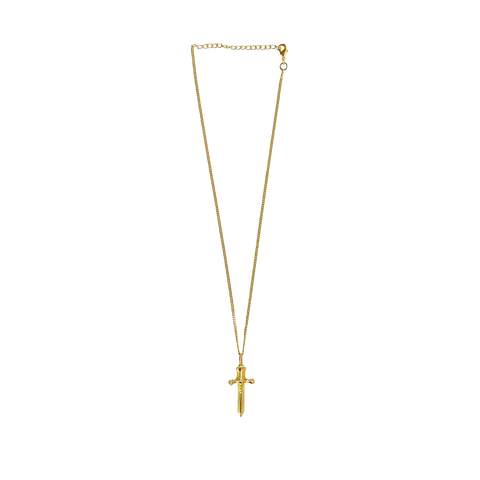 Gold ONE & ONLY Necklace GOLD link Chain with DAGGER Charms Mountain Moon
