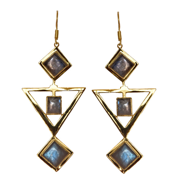 RISHIMA Earrings | LABRADORITE