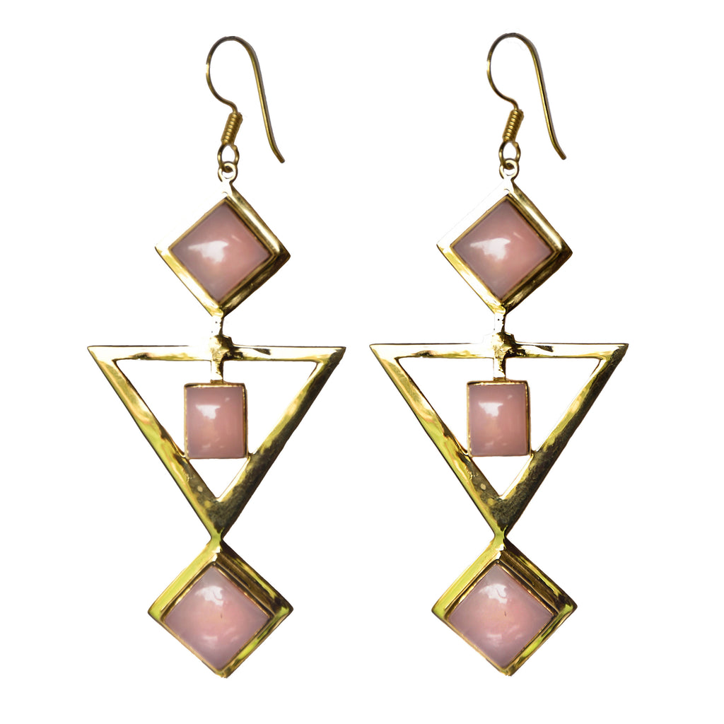 RISHIMA Earrings | PINK OPAL