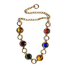 image of vintage GIGi belt gold chain metal coloured gem stones