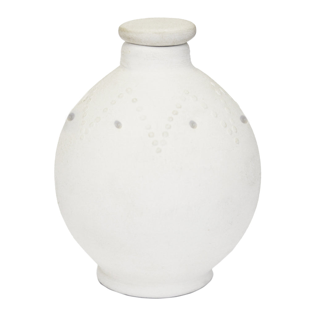 Clay white pot (Setabello boxed) - Africology