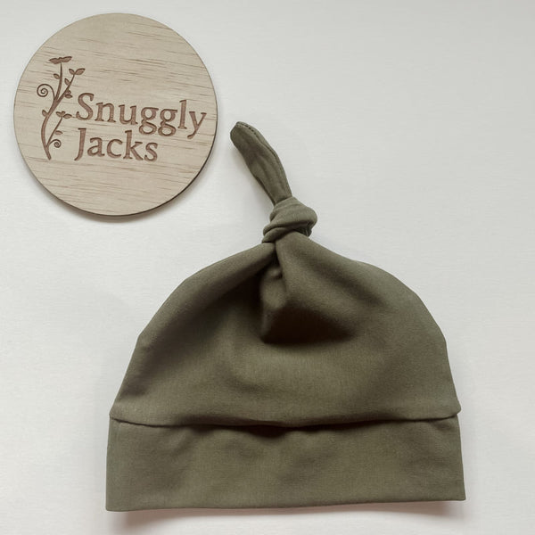 """Snuggly Jacks"" - Knotted Beanies"