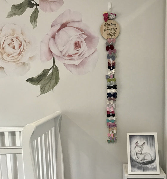 """My Pretty Clips"" - Hanging Bow Organiser"