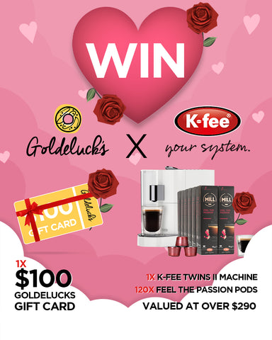Goldeluck's doughnuts desserts donuts valentine's day giveaway contest competition k-fee coffee win