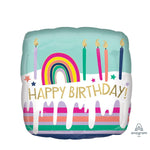 Happy Birthday Square Cake - Goldeluck's Doughnuts