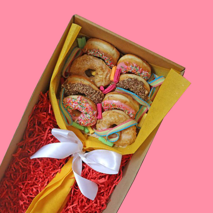 Mini Mixed Rose Bouquet - Goldeluck's Doughnuts