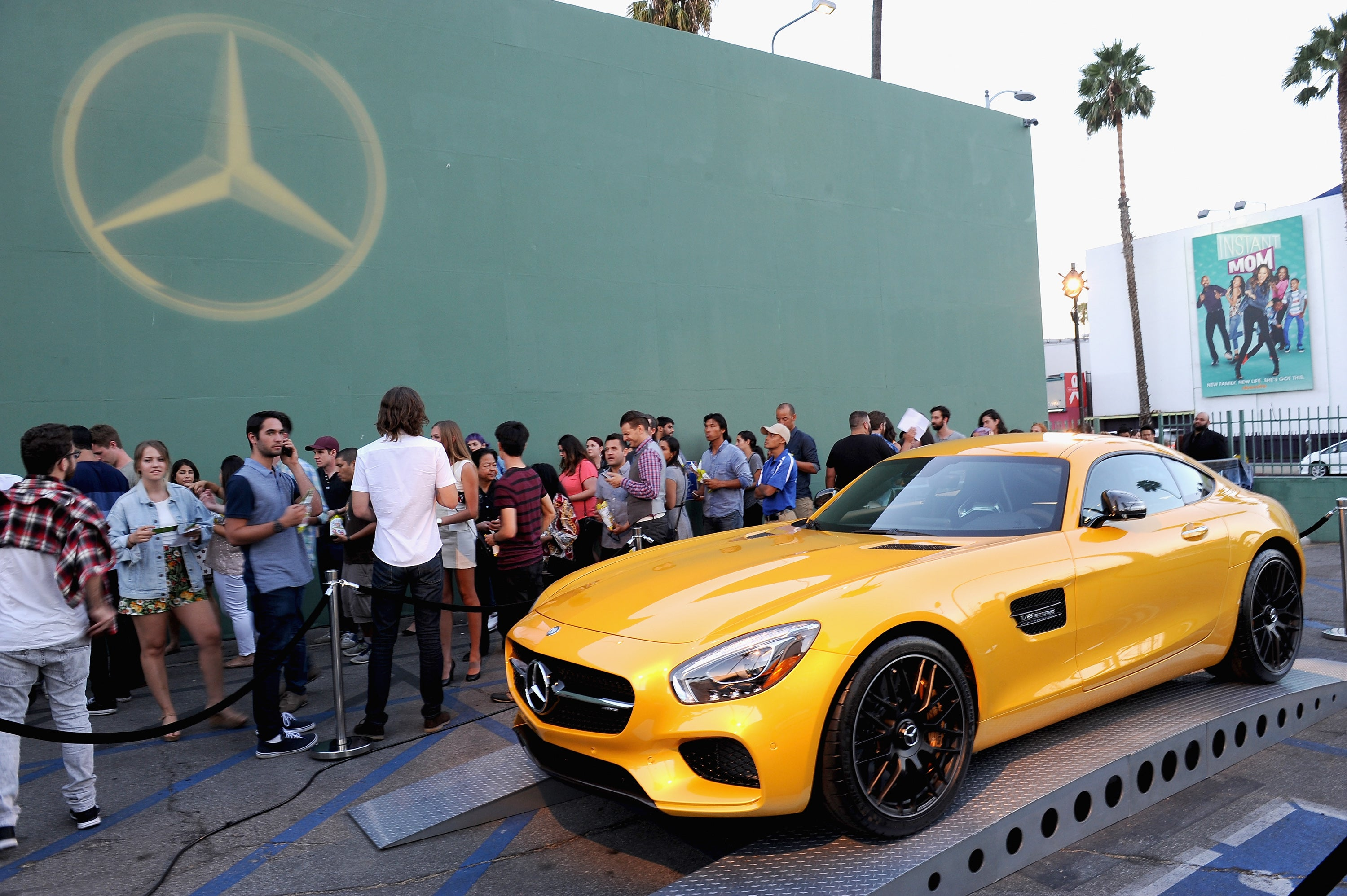 A view of a Mercedes-Benz on display at the Mercedes-Benz 2015 Evolution Tour on August 4, 2015 in Los Angeles, California.  (Photo by Angela Weiss/Getty Images for Mercedes-Benz)