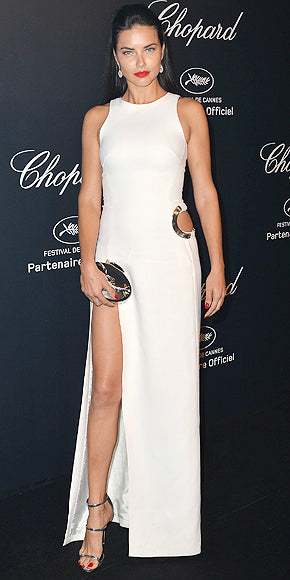 If it ain't broke...Adriana Lima was the queen of white this year.