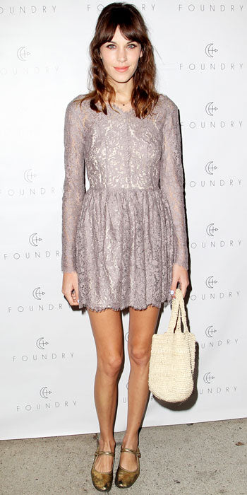Alexa Chung was sweet in lace at a Foundry event