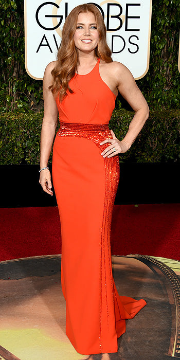 Amy Adams in Atelier Versace. (Photo by Jason Merritt/Getty Images)
