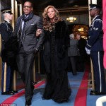 Beyonce and Jay-Z step out in their Monday best for the inauguration