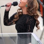 Beyonce at President Obama's inauguration