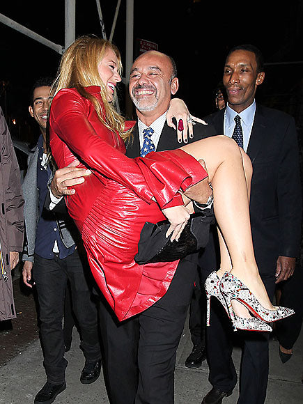 Friends in high places - Blake Lively and Christian Louboutin