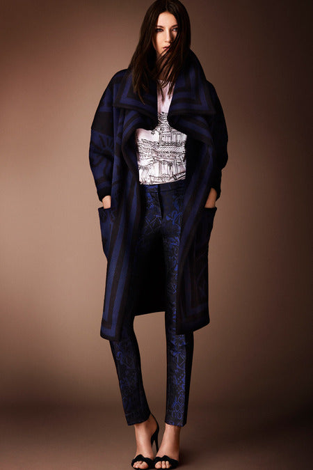 Burberry Prorsum Pre-Fall 2014. Deep blues make this moody look casual but refined.