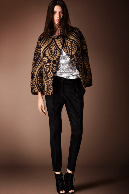 Burberry Prorsum Pre-Fall 2014. If you tend to go dark in the winter, why not do it with a hint of gold?