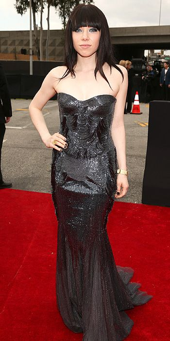 Carly Rae Jespen also glittered in black
