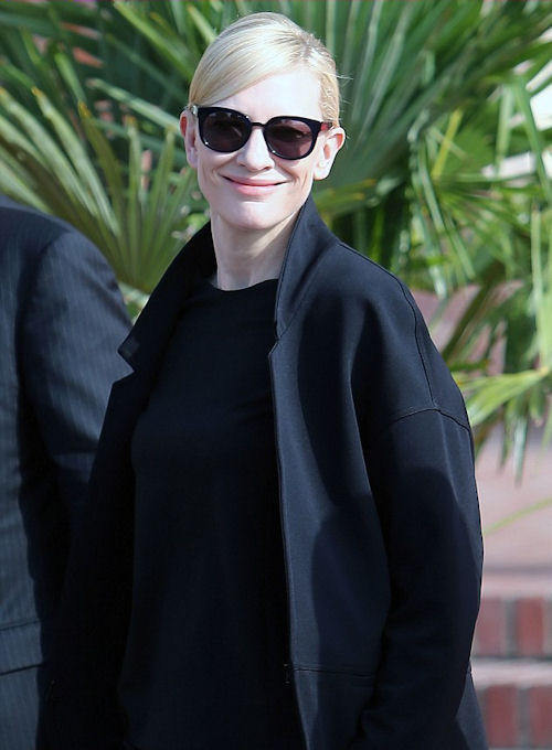 Effortlessly chic --Cate Blanchett arrived in Deauville in an all black look